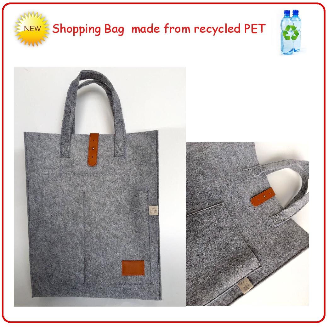 Bag made from recycled PET