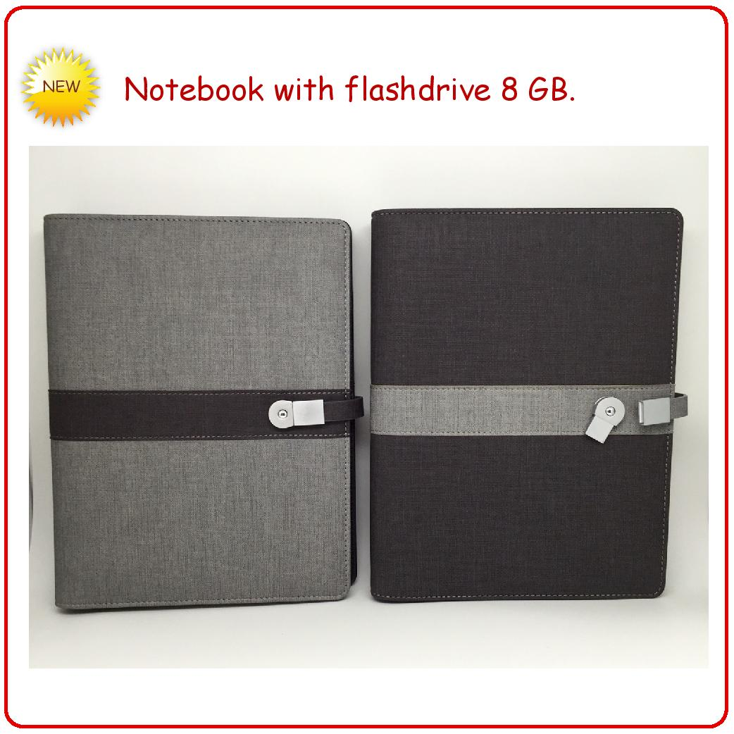 Notebook with flashdrive 8 GB