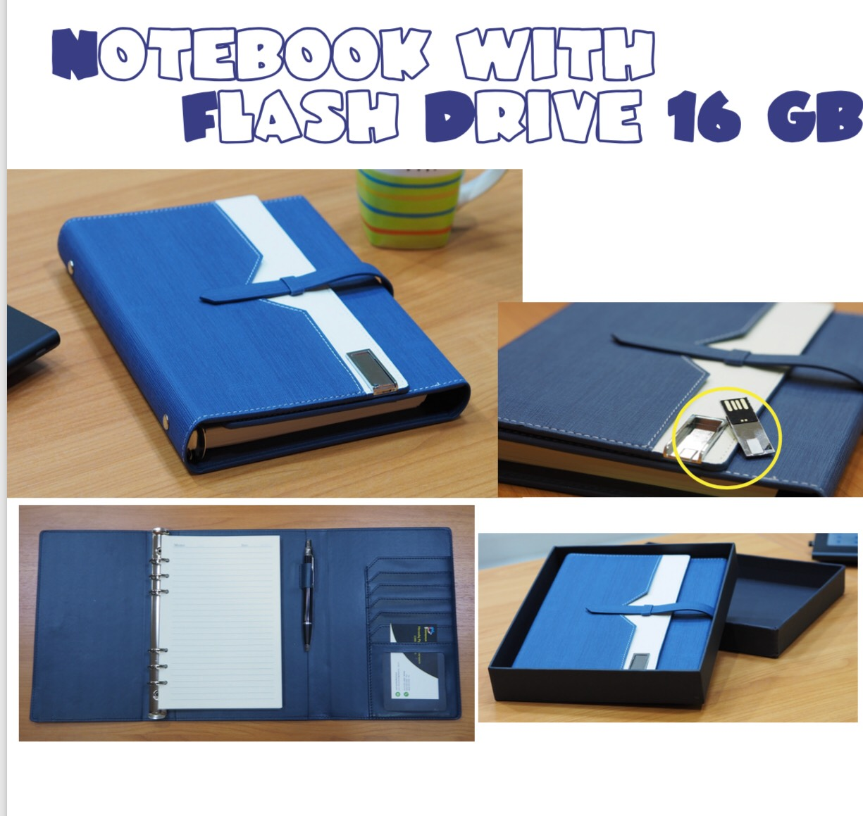 Notebook with Flash Drive 16GB.